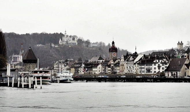 Entering Lucerne