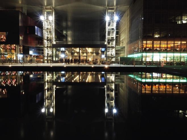 Lucerne Concert Hall at Night