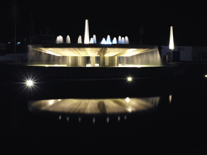 Concert Hall Fountain at Night